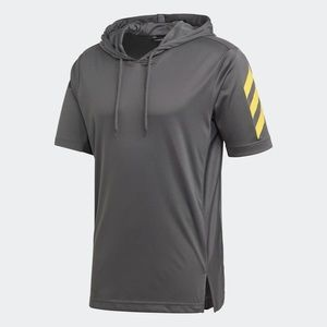 Adidas SPT S/S Basketball Hoodie Grey DZ6003 NEW